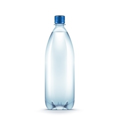Blank plastic blue water bottle vector