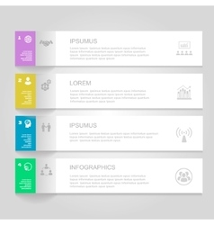 Infographics design template numbered banners vector