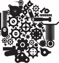 cogs and cranks vector image