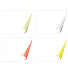 Bent paper pages vector