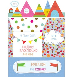 Invitation or banner for kids holiday - cute vector