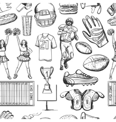 American Football Seamlees pattern vector image