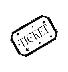 Amusement park ticket black simple icon vector