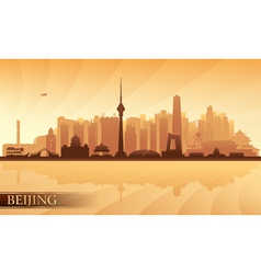 Beijing city skyline vector