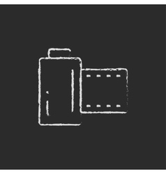 Camera roll icon drawn in chalk vector image