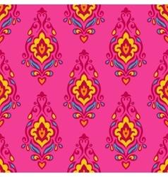 Damask festive floral seamless pattern vector image
