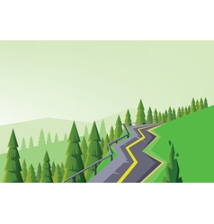 Digital abstract background with a road vector