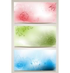 Floral Banner Set vector image vector image