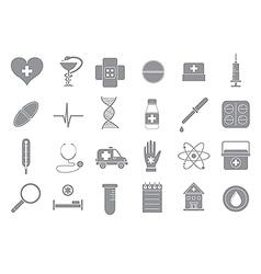 Hospital gray icons set vector image vector image