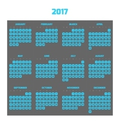 Modern style calendar for 2017 vector image vector image