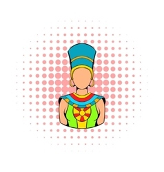 Queen of egypt icon comics style vector