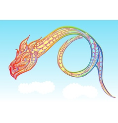 Rainbow dragon vector