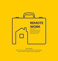 Remote work vector image vector image