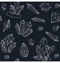 seamless pattern geometric crystals gem and vector image
