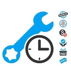 Service time icon with free bonus vector