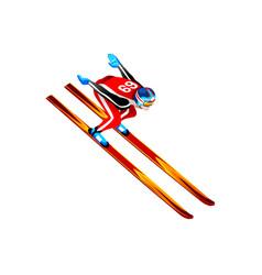 Ski jump long hill vector