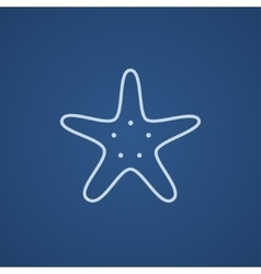 Starfish line icon vector image vector image