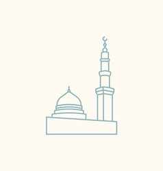 The prophet s mosque in madina vector