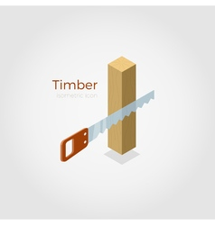 Timber isometric vector