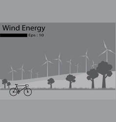 Wind energy wind generators vector