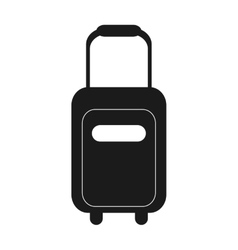 Single suitcase icon vector
