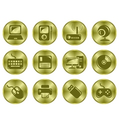 Hardware buttons vector image