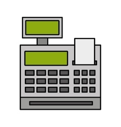 Machine register isolated icon vector