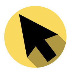 arrow sign   flat black icon vector image