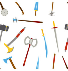 Ancient melee cold weapon tool equipment pattern vector
