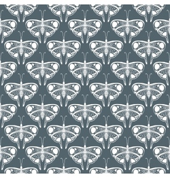 Art deco pattern with butterflies vector