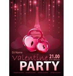 Valentine disco poster vector