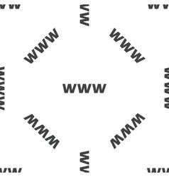 WWW pattern vector image