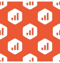 Orange hexagon volume scale pattern vector
