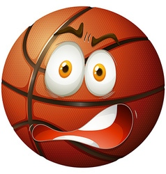 Basketball with shocking face vector