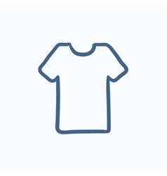 T-shirt sketch icon vector
