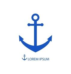 Blue anchor vector
