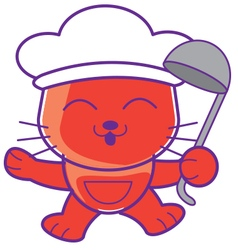 Cook Cat vector image