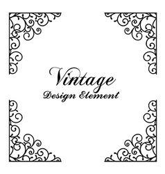 Decorative vintage and classic design element vector image