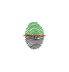 Fingerprint on scanner access vector