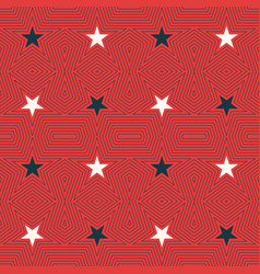 Geometric seamless pattern with stars vector