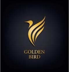 Golden phoenix bird brand animal logoluxury vector