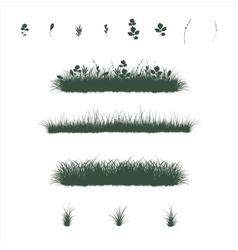 grass set in flat colors vector image