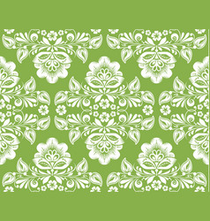 Greenery russian hohloma style seamless background vector
