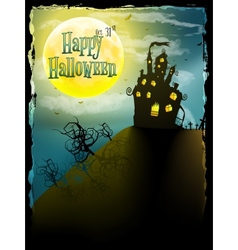 Halloween party greeting card EPS 10 vector image vector image