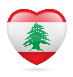 Heart icon of lebanon vector