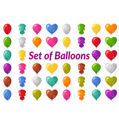 Holiday balloons set vector
