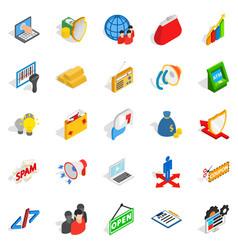 It icons set isometric style vector