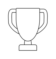 Line prize symbol icon design vector
