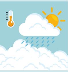 rainy weather forecast vector image