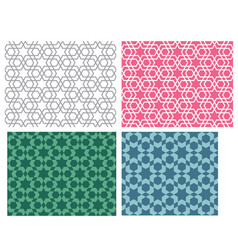 Seamless star pattern in modern korean style vector